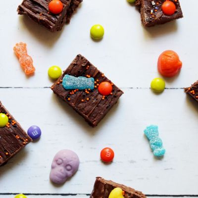 3 Ingredient Halloween Fudge - a Great Way to Use Leftover Halloween Candy