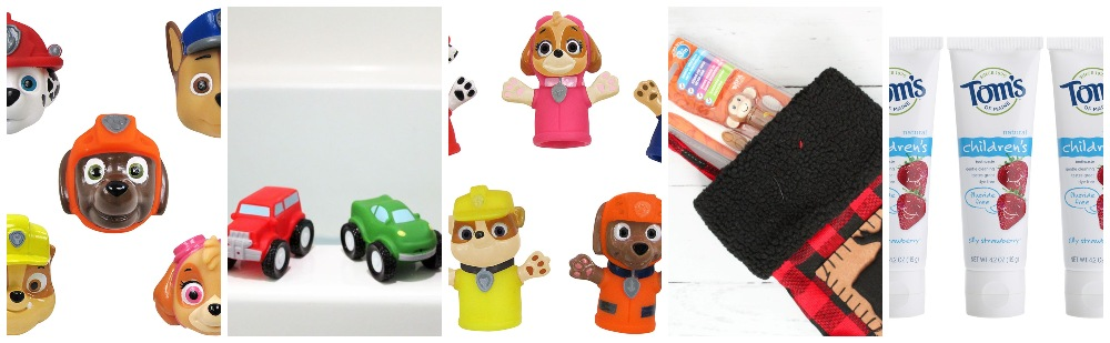 Collage of toddler bath stocking stuffer ideas 1