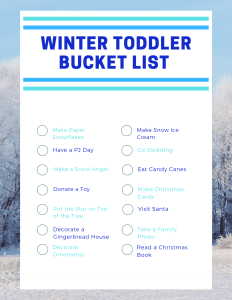 Winter Bucket List Printable PAge 2