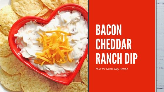 4 Ingredient Bacon Cheddar Ranch Dip