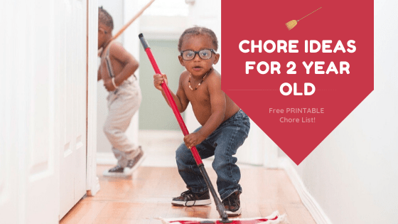 Chores for Two Year Olds – FREE Printable Chore List!