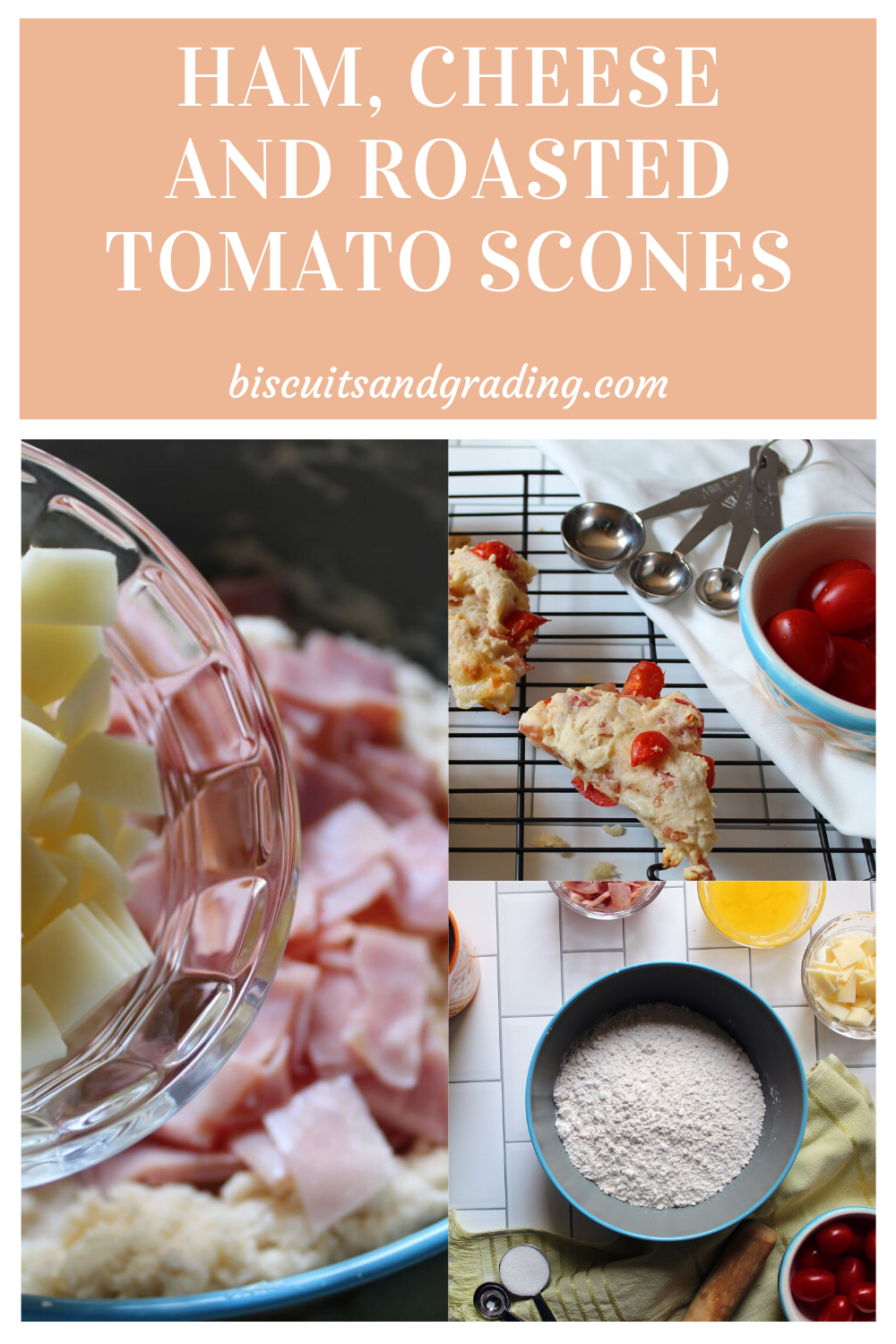 Ham, CHeese and Roasted Tomato Scones