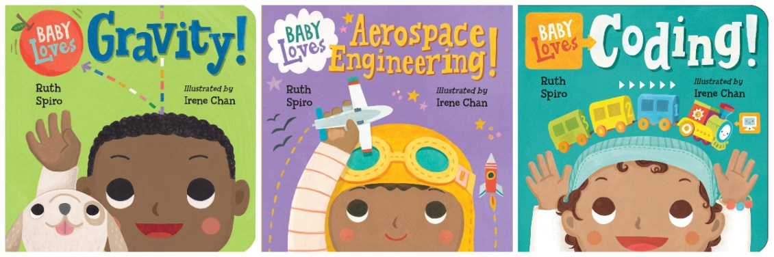 baby loves science books for babies and toddler with black main characters