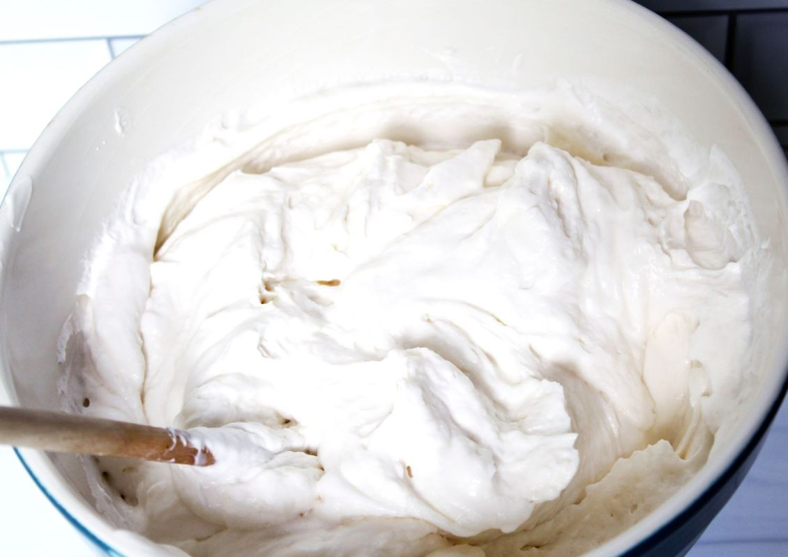 mix yogurt and whipped topping together 1