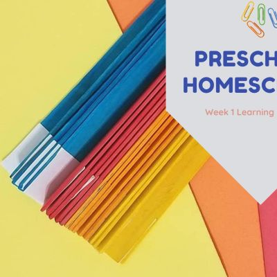 Week 1 Preschool Homeschool Activities Round Up