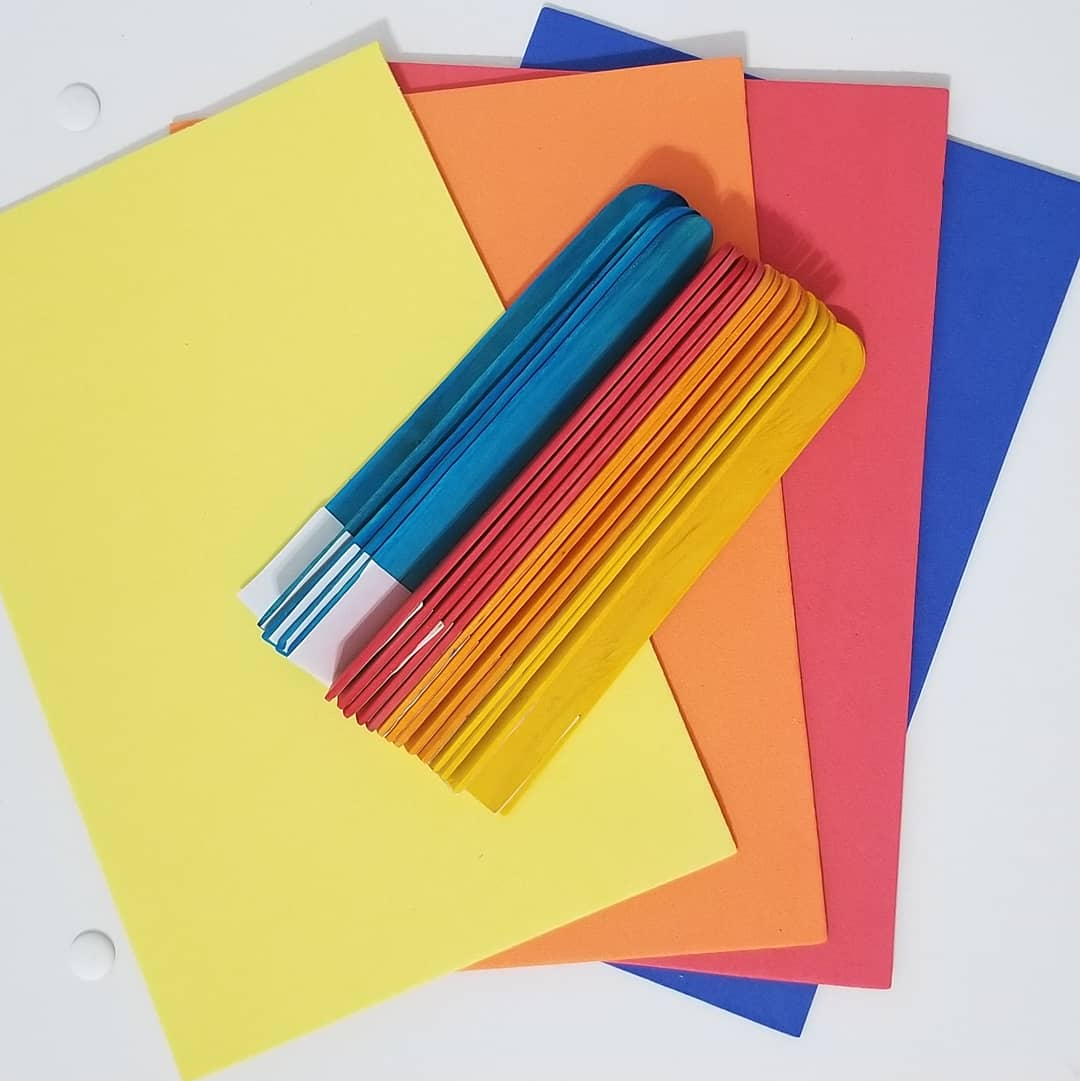 color sorting guided learning activity