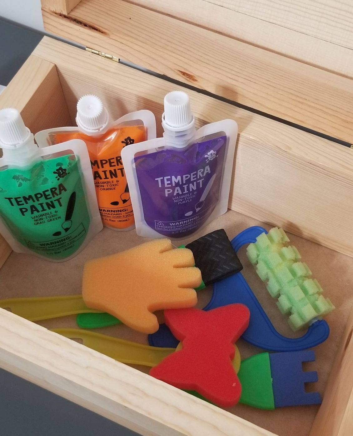treasure chest painting exploration for preschool homeschool