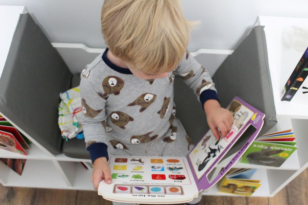 boy with farm books for learning