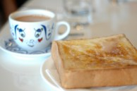 condensed milk toast and tea