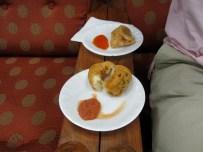 airport breakfast - iddlis and samosa