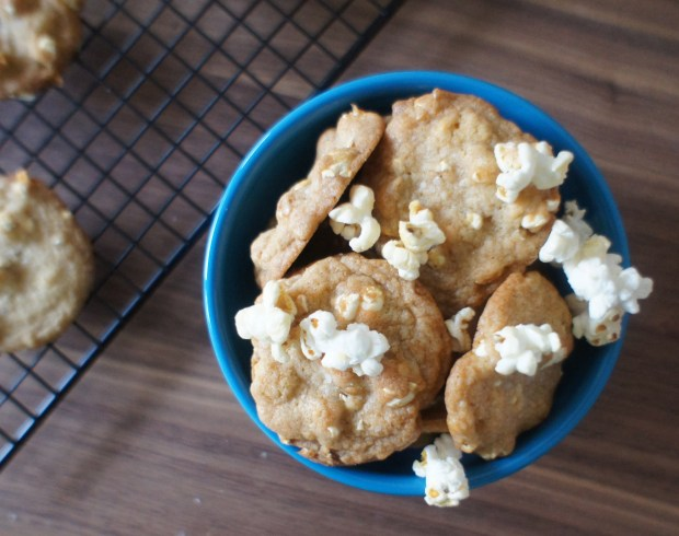 cookies in bowl w/ popcorn