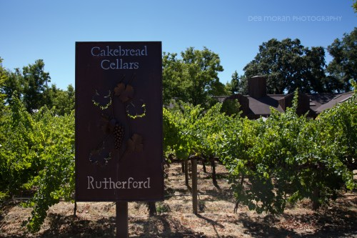 Love this sign outside by the vines, greeting guests at Cakebread Cellars.