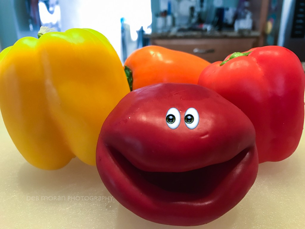 Just a little fun with my peppers before chopping them up.