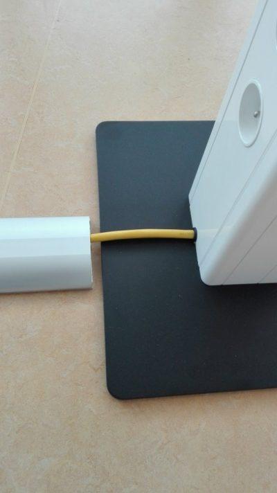 Vloergoot, combinatie spina laptopzuil