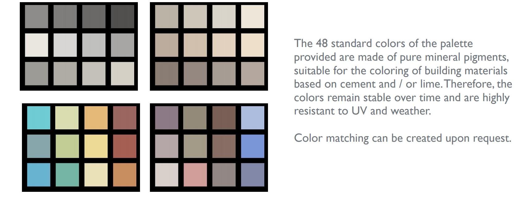 Microcement - Colors