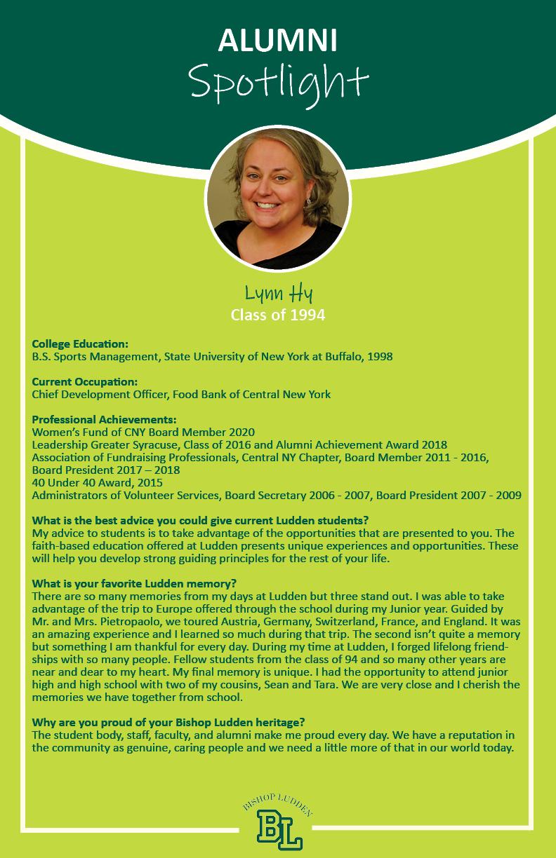 Lynn Hy 94 - Alumni Spotlight