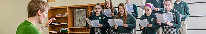 arts bishop ludden catholic school cny - National Honor Society Inductee Ceremony