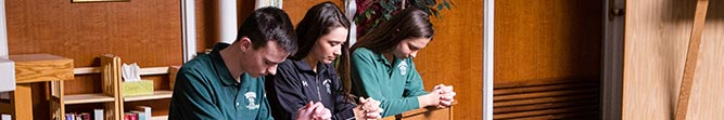 faith service bishop ludden catholic school syracuse 1 - Photos - Alumni Boys Basketball Game