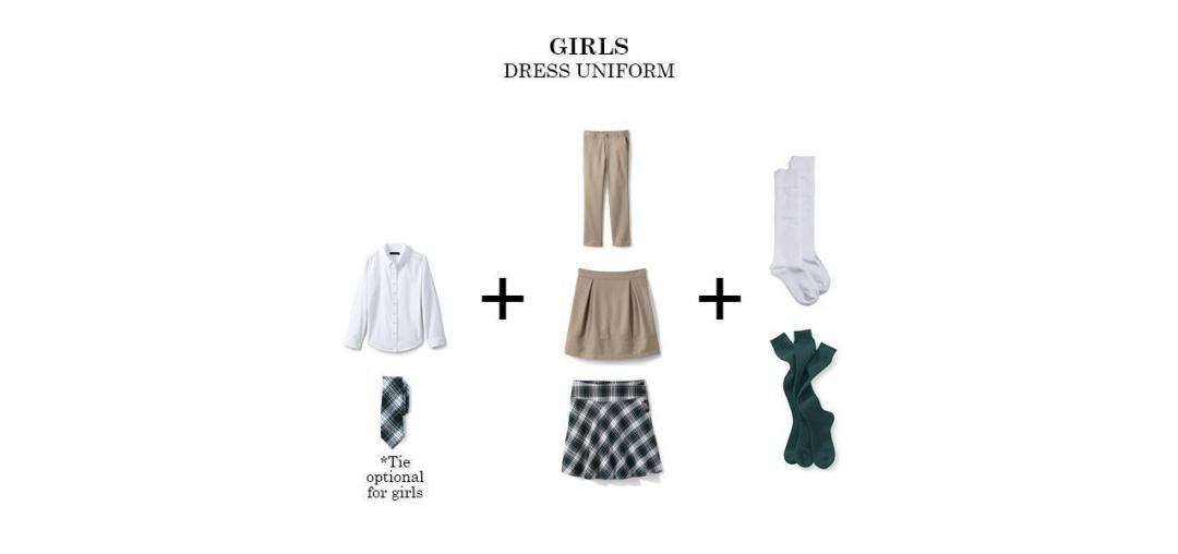 girls regular uniform bishop ludden dress - Uniform & Dress Code