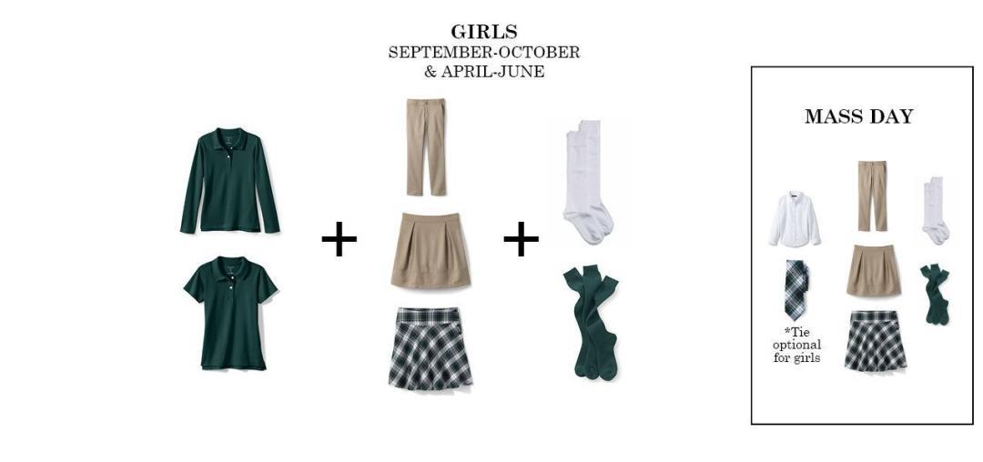 girls regular uniform bishop ludden - Uniform & Dress Code