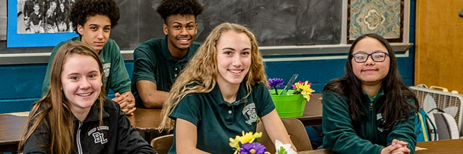 giving bishop ludden private catholic school syracuse - Students Return to School