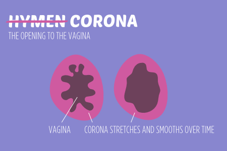 It used to be called the hymen but now it's the corona. It's stretchy mucous tissue surrounding the opening to the vagina. It's not a wall of tissue that breaks