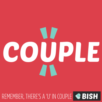 remember there's a u in couple