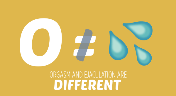 Orgasm and Ejaculation are Different