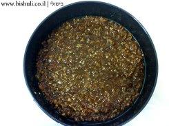 עוגת פקאן וקרמל - הכנה 4