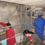 Sanierungsarbeiten im Innenbereich des Weißenfelser Bismarckturms