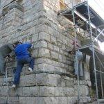 Sanierungsarbeiten Bismarckturm Weißenfels 2012 - Außenbereich