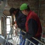 Sanierungsarbeiten Bismarckturm Weißenfels 2009 - Treppe