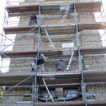 Sanierungsarbeiten Bismarckturm Weißenfels 2012 - Verfugen