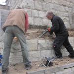 Sanierungsarbeiten 2012 - Sockel