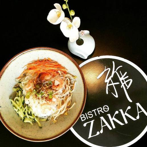 Salade de crevettes - Lyon - Bao - Bistro Zakka