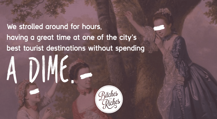 We strolled around for hours, having a great time at one of the city's best tourist destinations without spending a dime.