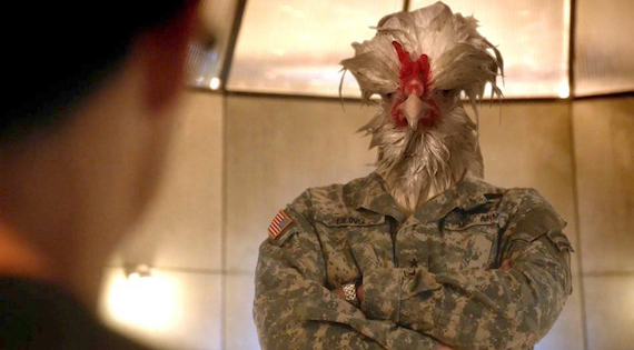 Military chicken.