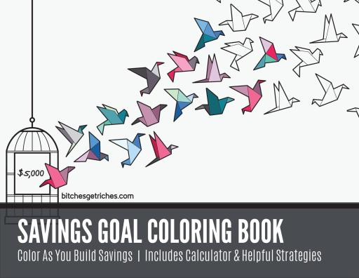Get the BGR Savings Goal Coloring Book on Etsy!