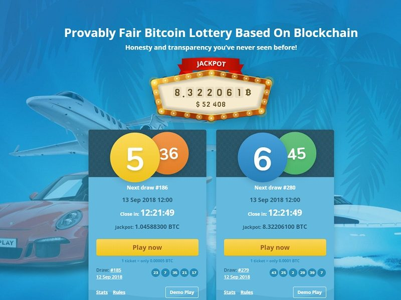 Bitcoin Lottery Bitplay Club Homepage
