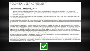 Poloniex Revised Terms of Use, Shutters Services in Several Countries 2