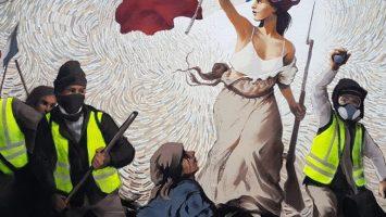 Street Artist Hides $1,000 in BTC Inside a Mural Depicting Paris Protests 2