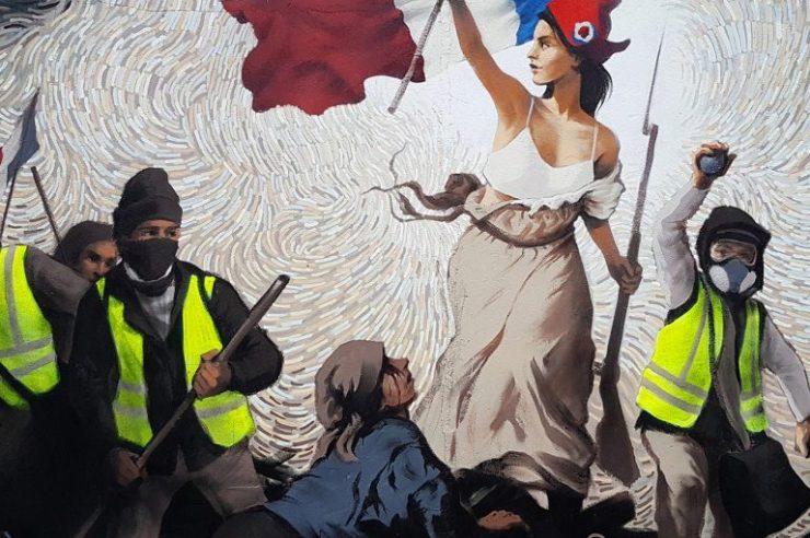 Street Artist Hides $1,000 in BTC Inside a Mural Depicting Paris Protests 1