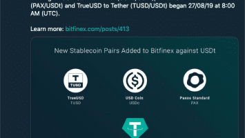 Bitfinex Added 3 Stablecoin Pairs Amidst All the Issues 1