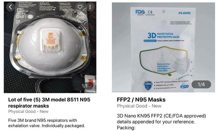 Hundreds of Darknet Listings Are Selling Masks and PPE Products for Bitcoin 6