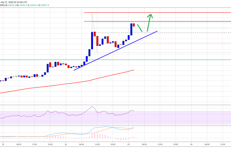 Bitcoin Price Holds Strong at $10,000: A Strengthening Case for More Gains 1