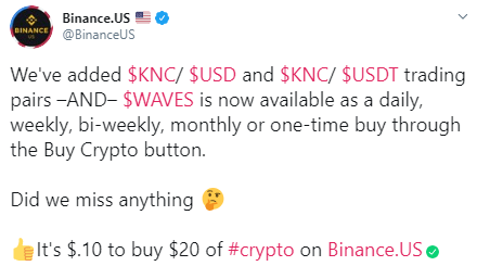 Kyber Network [KNC] Price Surges Post Binance.US Listing 2