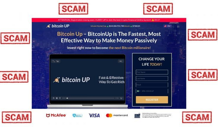 The Tell Tale Signs of a Scam Crypto Website: Bitcoin-Up.Live 1
