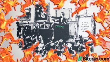 a group crypto proponents burned an original banksy morons print and turned it into an nft33 768x432 1