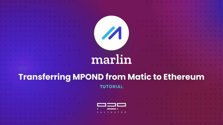 Tutorial: Transferring MPOND from Matic to Ethereum