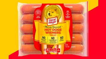 oscar mayer is auctioning a 10 pack of dogecoin themed hot dogs proceeds go to hunger relief charity
